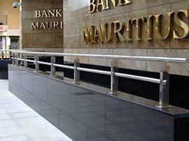 Bank of Mauritius at Port Louis, Indian Ocean.
