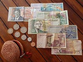 Finance - Mauritius Bankers Association which regroups all banks licensed; mauritian rupees currency.