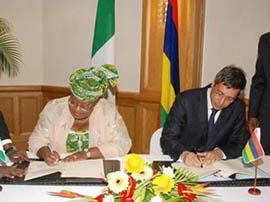 Taxation - Double taxation agreement between Mauritius and Nigeria, signed by the Minister of Tourism, Mr Xavier Duval.