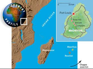 Country Profile of Mauritius, Indian Ocean.